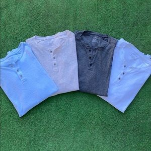 APT 9 Kohls Bundle Lot Men's Henley Shirts 👕